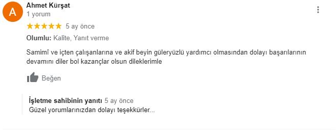 Ahmet Kürşat Bey'in Değerli Yorumu